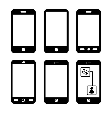 mobile advertising over white background vector illustration