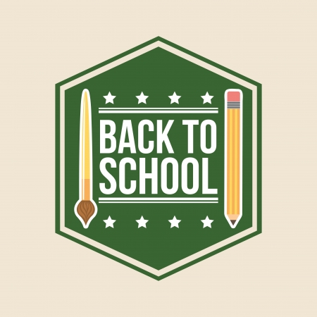 intermediate: back to school over white background vector illustration