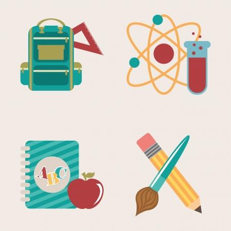 semester: back to school over white background vector illustration