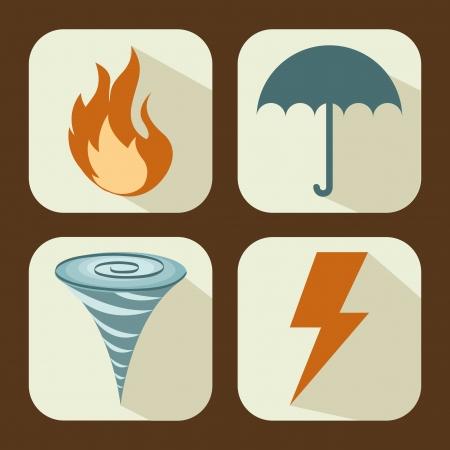insurance design over brown background vector illustration Vektoros illusztráció