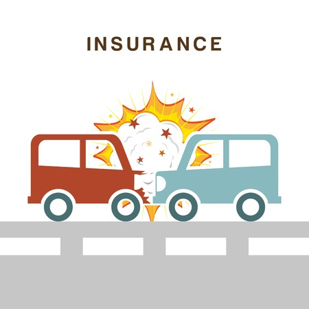 insurance design over white background vector illustration Vector