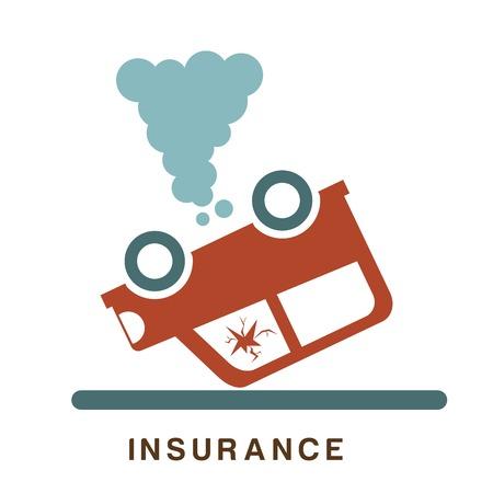 prevencion de accidentes: dise�o de un seguro sobre el fondo blanco ilustraci�n vectorial