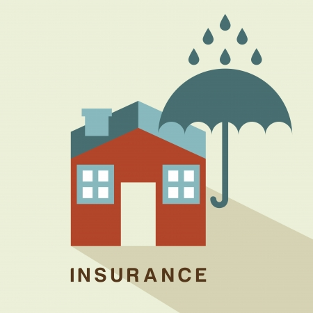 insurance design over beige background vector illustration Vector