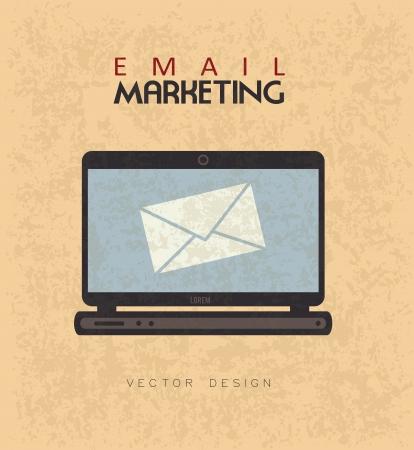enveloped: email marketing over pink bacground vector illustration