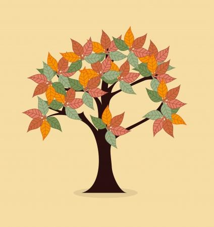 enviromental: eco design over  pink background vector illustration