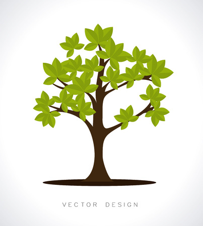 enviromental: eco design over white background vector illustration