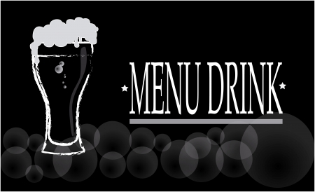 drink menu over  background vector illustration  Vector