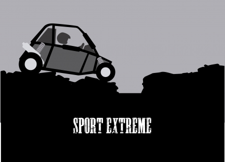 extreme sport over gray  background vector illustration