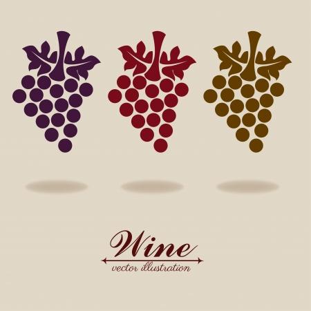wine design over beige  background vector illustration  Vector