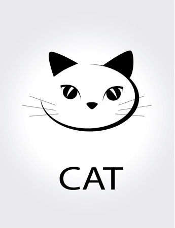 caras emociones: dise�o de la mascota m�s de fondo gris ilustraci�n vectorial