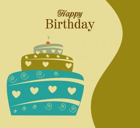 backgrund: birthday  design over beige backgrund vector illustration  Illustration