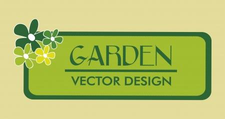 tuinontwerp: garden design over beige background vector illustration