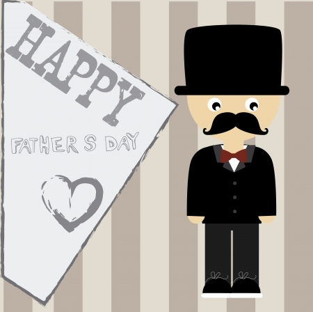 happy fathers day over lineal   background vector illustration Vector