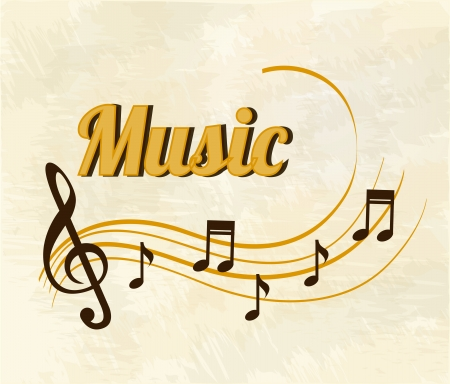 musical design over  pattern  background vector illustration Иллюстрация