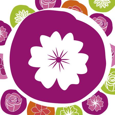 obituary: flowers design over white background vector illustration   Illustration