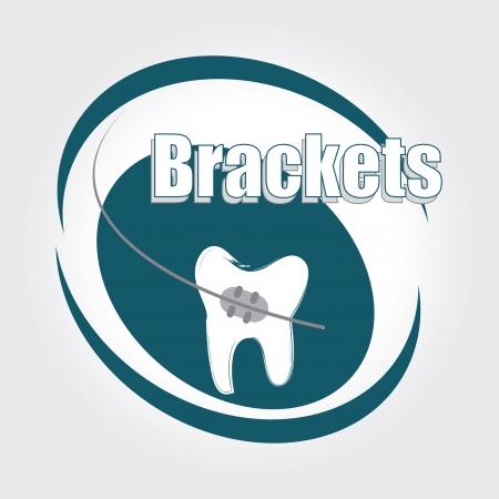 dental care over  white background vector illustration Vector