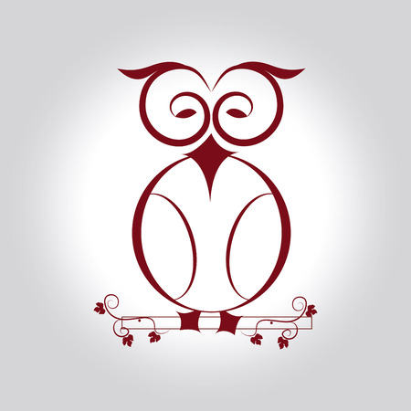 owl design over gray  background vector illustration Vector