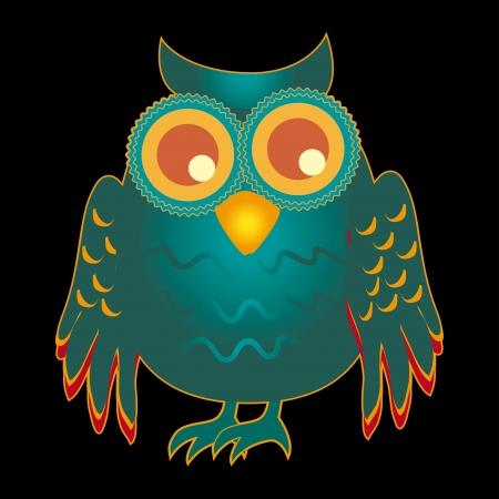 owlet: owl design over black  background vector illustration