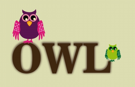 owl design over beige  background vector illustration Vector