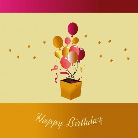 backgrund: birthday  design over beige  backgrund vector illustration