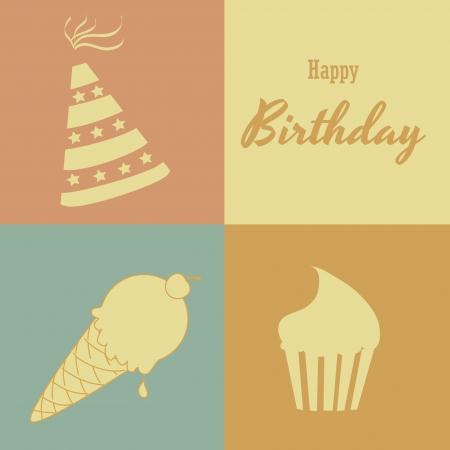 backgrund: birthday  design over colors  backgrund vector illustration  Illustration