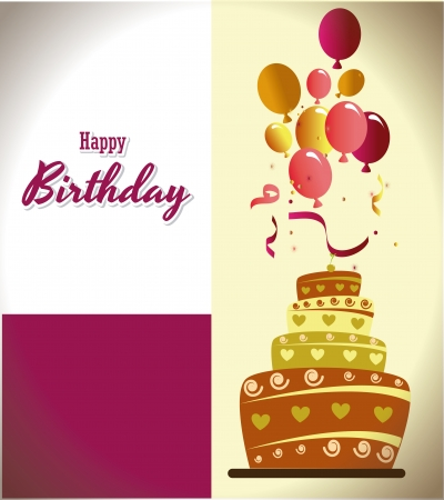 birthday  design over bronce  backgrund vector illustration  Vector