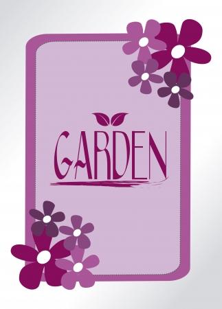 tuinontwerp: tuinontwerp over grijze achtergrond vector illustratie