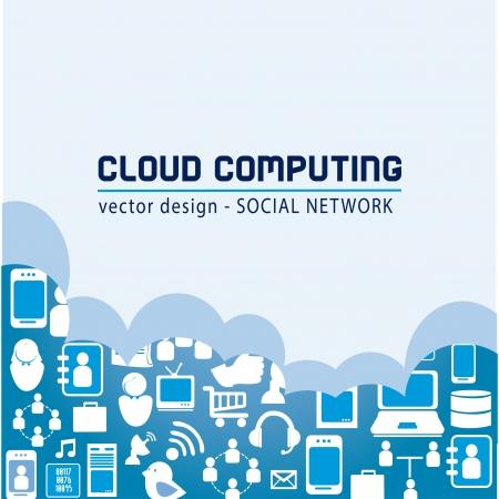 contacting: social media  over blue background vector illustration Illustration