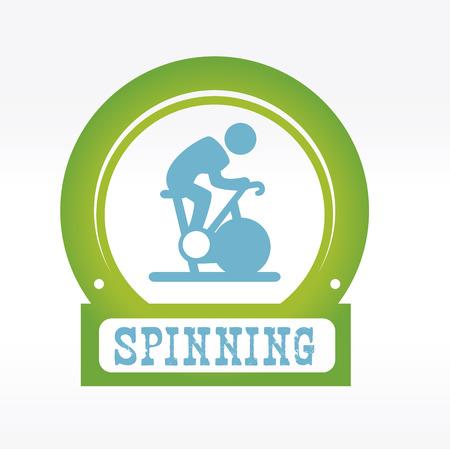 fitness design over white   background vector illustration  向量圖像