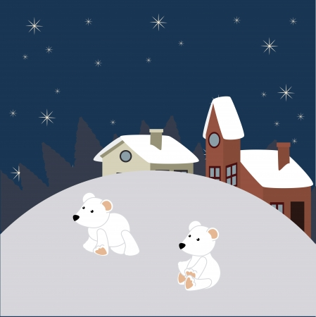 christmas design over starry  background vector illustration Vector