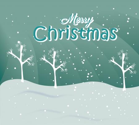 schneelandschaft: Weihnachts-Design �ber Himmel Hintergrund Vektor-Illustration Illustration