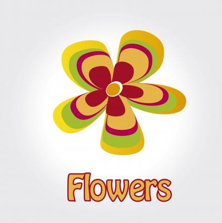 obituary: flowers design over gray  background vector illustration