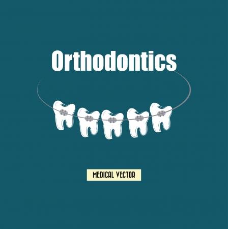 dental care over blue  background vector illustration Vector