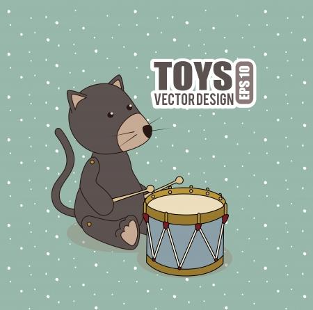 newborn rat: baby design over blue  background vector illustration Illustration