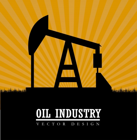 combust: oil industry over background vector illustration Illustration
