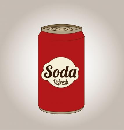 quench: soda design over gray  background  vector illustration Illustration
