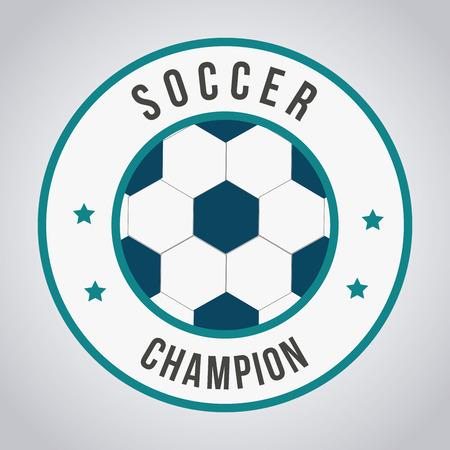 soccer design over gray  background illustration Stock Vector - 24964082