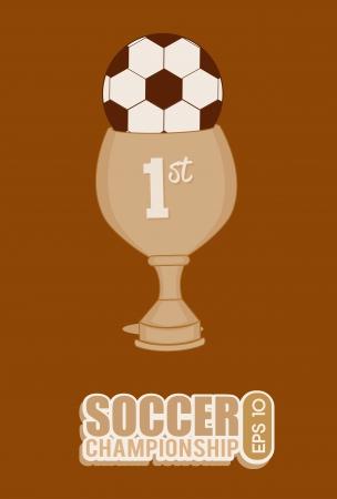 soccer design over brown  background  vector illustration Stock Vector - 24963996