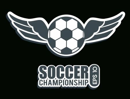 soccer design over  black background  vector illustration Stock Vector - 24963987