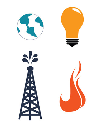 combust: oil industry over white   background illustration