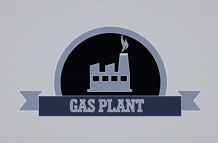 combust: oil industry over gray  background illustration