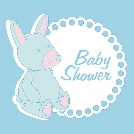 newborn rat: baby design over  blue background illustration