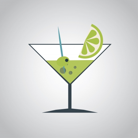 drink menu over gray background vector illustration  Vector