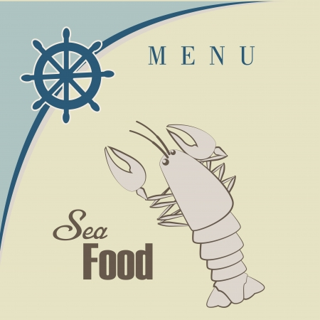sea food design over beige  background vector illustration  Vector