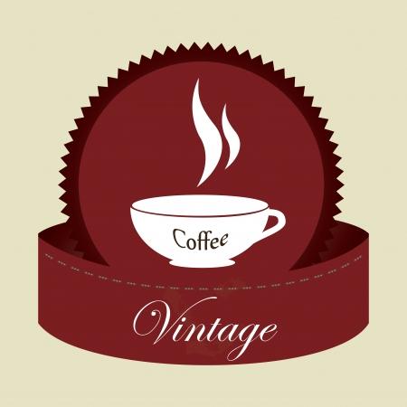 coffee design over beige background vector illustration  Vector