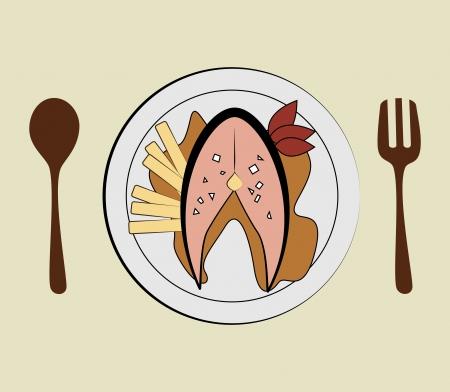 sea food: sea food design over beige  background vector illustration