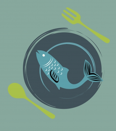 sea food design over  blue background vector illustration  Vector
