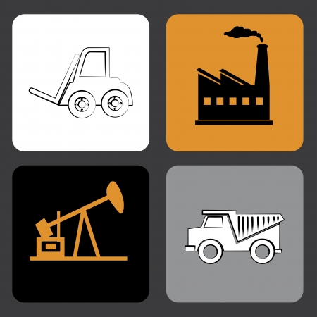 combust: oil industry over gray background vector illustration
