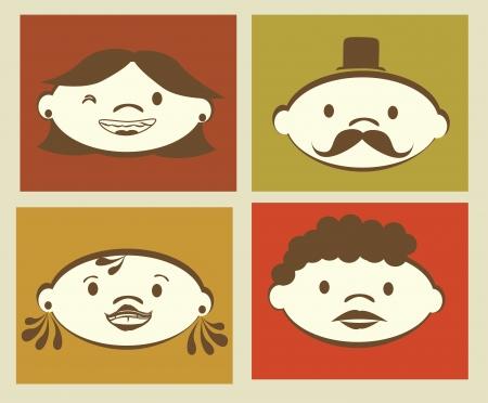 asian business meeting: people design  over beige background vector illustration
