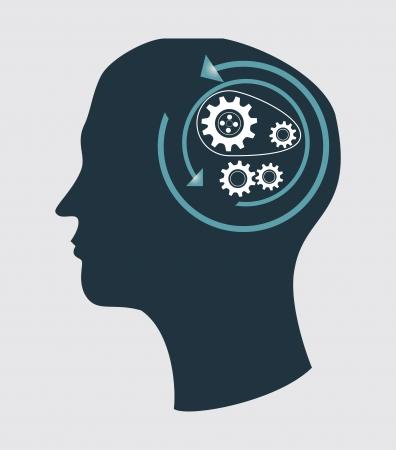 consept: gears design over gray  background vector illustration